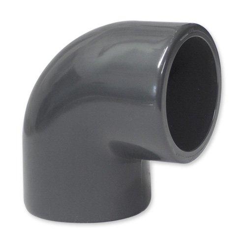 Preisvergleich Produktbild PVC Winkel 90° 50 mm mit 2 Klebemuffe
