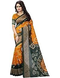 Macube Women's Bhagalpuri Silk Saree With Blouse Piece (Ms789_0, Multicolor, Free Size)