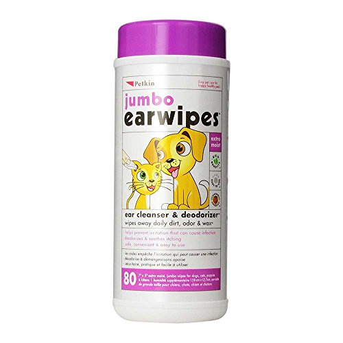 Petkin Jumbo Ear Wipes (80 wipes in a single pack)