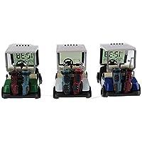 crestgolf Mixed Color Mini despertador de carro de golf, carrito de Golf en miniatura (3colores para su referencia) Pack de 3piezas