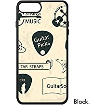 DIYthinker Patrón phonecase Cover de Apple Caso del iPhone del Regalo 7 Plus Auricular Guitarra del