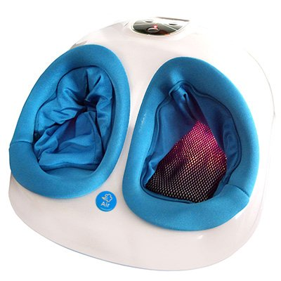Perfektes Geschenk für Oma und Opa Fuss-fit-MaXX Fussmassagegerät Neues Modell - mehr Funktionen - Fußreflexzonen Massagegerät - mit 3D-Luftmassagetechnik und zuschaltbarer Wärmefunktion -