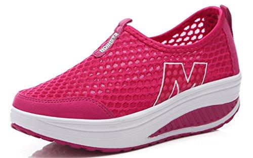 NEWZCERS Maglia di Estate delle Donne Slip-On di Lavoro della Piattaforma Scarpe Fitness Fuori Scarpa da Tennis