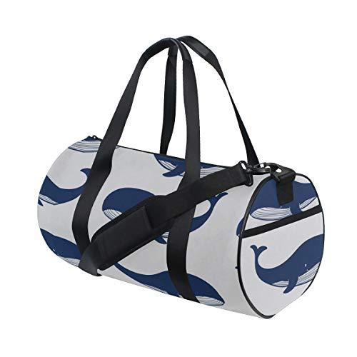 Blue Whale Ocean Beauty Pattern Benutzerdefinierte Leichte Große Yoga Gym Totes Handtasche Reise Leinwand Duffel Taschen Mit Schulter Crossbody Fitness Sport Gepäck Für Mädchen Männer Frauen