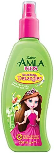 Dabur Amla Kids; Easy combing for smooth, soft hair ; Enriched with Amla,Olive, Almond; Natural oils, Vitmain