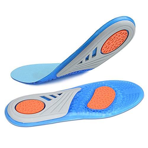 SZSMART Silikon Gel Sport Komfort Einlegesohlen, EVA Orthesen Einlegesohlen Optimale Dämpfung Maximaler Halt ideal für Sport und Alltag Damen Herren Unisex (S (EU 35.5-EU 42))