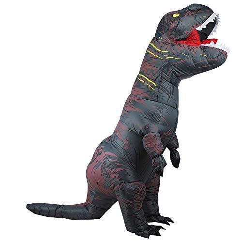 L&U Aufblasbares Dinosaurier-Maskottchen-Kostüm, Erwachsenes aufblasbares Kostüm Erwachsenes Abendkleid für Halloween Brown, Party, Festivalparty, Größe hoch ()