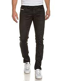 BLZ jeans - Jean homme noir huilé droit