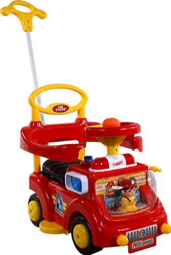 Correpasillos y andados para bebes - Portador con funcion empuja -Tire del juguete - Coche para bebe - Coches para ninos - Baby car ARTI Fire Engine 530W Red Ride-On Activity Toy
