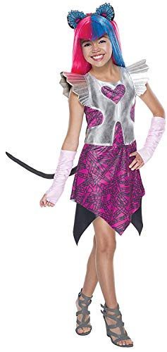 Brandsseller Monster High Catty Noir Boo York Kinderkostüm Mädchenkostüm Karneval Fasching - Größe: M (Catty Noir Boo York Kostüm)