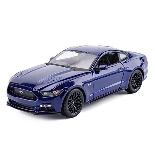 JIANPING Auto Modell Auto 1:18 Ford Mustang GT Simulation Legierung Druckguss Spielzeug Ornamente Sportwagen Sammlung Schmuck 25,2x11,2x7,9 CM Modellauto (Color : Dark blue) (1 18 Diecast Ford Gt)