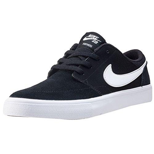 Nike Jungen SB Portmore II (GS) Skateboardschuhe, Schwarz (Blackwhite 010), 37.5 EU (Nike Sb Skateboard-schuhe)