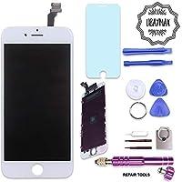 UBaymax Kit de Remplacement Ecran Compatible iPhone 6 Blanc avec Outils Aimantés et LCD Tactile