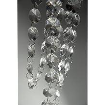 VStoy 182,88 cm transparente cristal brillantes lactoalbúmina candeiabro cadena