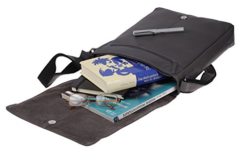 Greenburry Pure A4 Borsa a tracolla pelle 29 cm scomparto tablet Grey