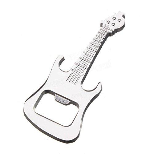 �nger Zubehör Ornament Musik Gitarre Flaschenöffner Bier Flaschenöffner Mini Gitarre Ornament Geschenk Home Party Supplies (Silber) ()