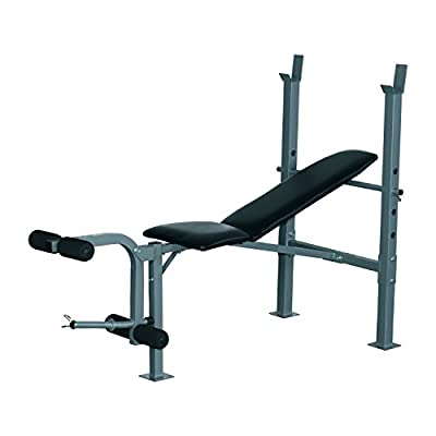 HOMCOM Heavy Duty Adjustable Multi Gym Chest Leg Arm Weight Bench w/ 4 Incline Postions - Black / Silver by Sold By MHSTAR