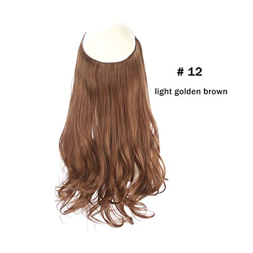 Light Pink Clip (Synthetic Natural Flip versteckte geheime Draht Crown Grey Pink-in Synthetic Clip, Light Golden Brown, 16inches)