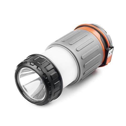LED Taschenlampe 240 Lumen wiederaufladbare Arbeitslampe mit 3200mAh 12 CREE LEDs USB Powerbank Camping Freizeit Wandern 3 dimmbare Helligkeiten Magnethalterung & Haken