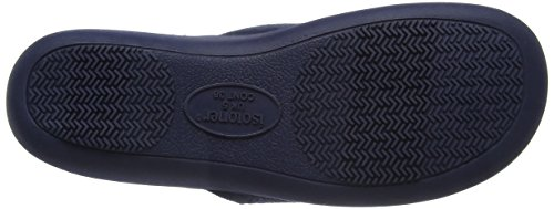 Isotoner Suedette Slippers, Chaussons Mules Femme Bleu Marine
