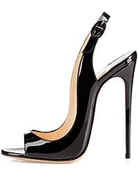 Jqdyl High Heels Leicht Heel Damenschuhe Frauen Peep-Toe Sandalen Stilettos Heels