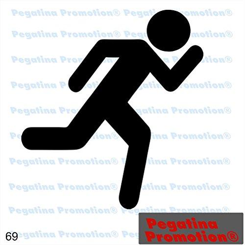 Piktogramm Typ 69 Icon Symbol Zeichen Fluchtweg Rettungsweg Notausgang Exit Aufkleber ca.15cm von Pegatina Promotion® Aufkleber mit Verklebehilfe von Pegatina Promotion® ohne Hintergrund geplottet