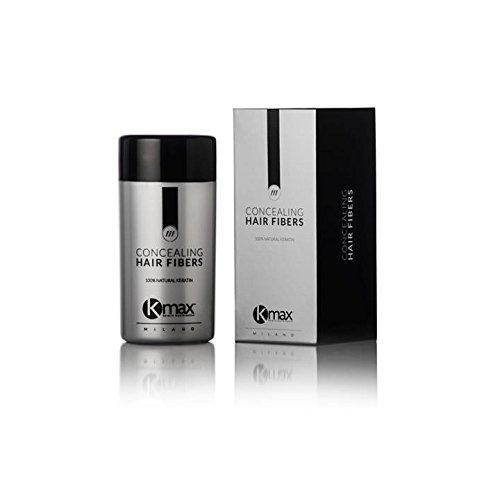 K-Max 25 G CHATAIN MOYEN Poudre de Cheveux 100% Naturelle – Donne du Volume, Masque l'alopécie