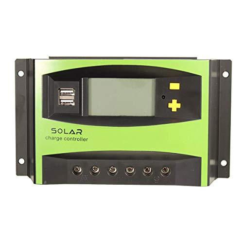 MYAMIA 40A 12V/24V Auto Solar Charge Controller LCD Display Home Improvement 40a 0,5 V Ladegerät