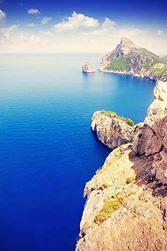 Bilderdepot24 Fototapete selbstklebend Cap de Formentor - Mallorca - Vintage 200x300 cm - Designtapete Wandbild Wohnzimmer - Landschaftsbild