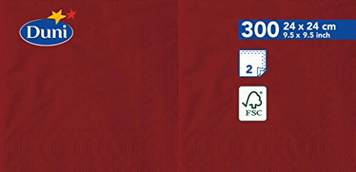 Duni 1683802lagig Tissue Servietten, 24cm x 24cm, bordeaux (2400Stück) - Tissue-papier Wirtschaft