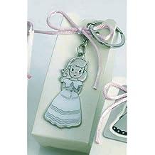 Llaveros niña comunión GRABADO con caja con peladillas (pack 12 llaveros) detalles regalos PERSONALIZADOS para invitados