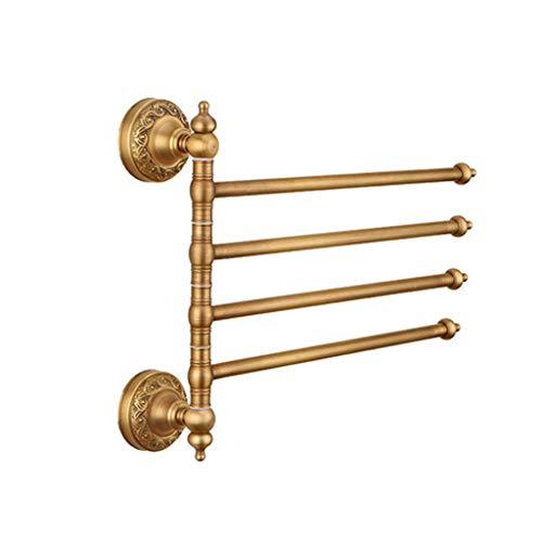 WANG XIN Antique cuivre tournante activité Porte-Serviettes Salle de Bains Salle de Bains Tenture Murale Double Rack