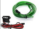 EL Lichtleiste - Ambientebeleuchtung Leuchtschnur Kabel grün - Kein LED (1m (9,99€/m))