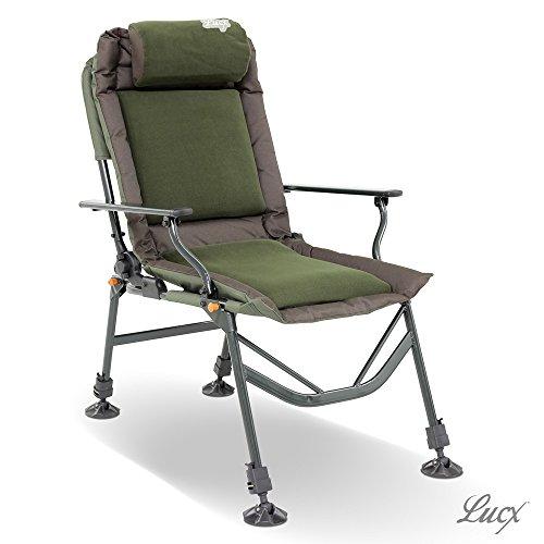 Lucx® Angelstuhl Like a Boss / Karpfenstuhl / Carp Chair / Stuhl mit Armlehnen
