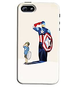 Blue Throat Boy With Avengure Shadow Printed Designer Back Cover/ Case For Apple iPhone 5s