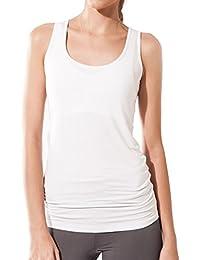 Sternitz Camiseta Sin Mangas Fitness Para Mujer, Maya Top, Tela de Bambú - Ecológica