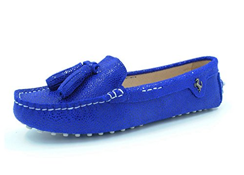 MINITOO , Sandales Compensées Femme - Bleu - Royal Blue Snake-Print,