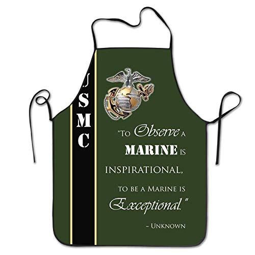 fengxutongxue USMC Marine Corps Aprons for Women/Men Bib Save-All Grill Waitress Attitude Chef Apron