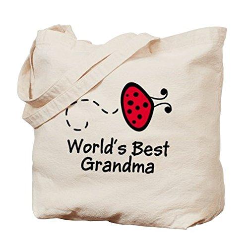 CafePress – Grandma Coccinelle Naturel – Sac en toile, tissu, Sac de courses