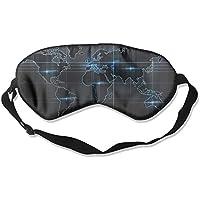Sleep Eye Mask Pulse Map Lightweight Soft Blindfold Adjustable Head Strap Eyeshade Travel Eyepatch preisvergleich bei billige-tabletten.eu