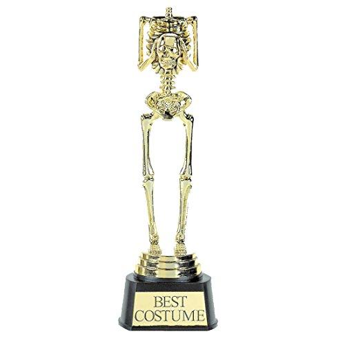 Skelett Trophäe Kostüm Pokal bestes Halloweenkostüm Best Costume Preis Kostümwettbewerb Halloween Party Requisite
