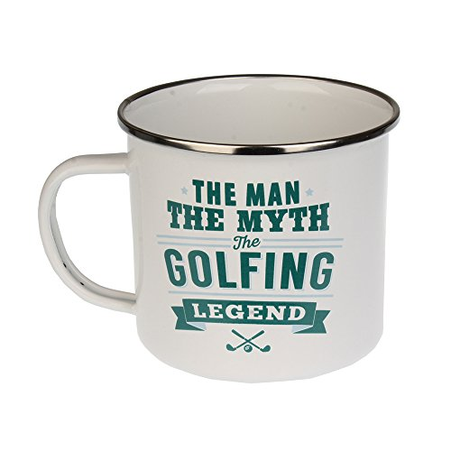 H & H Top Guy Tasse Golf, groß, Emaille, ca. 400 ml, Mehrfarbig, leicht, Retro-inspiriert, für Damen und Herren Family Guy Bier