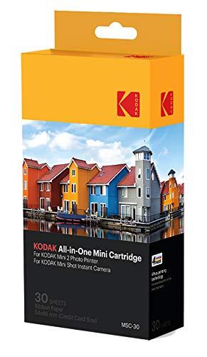 Kodak NEU Mini Fotodruckerpatrone MC - All-in-One Papier und Farbtintenpatrone Nachfüllung - 30er Pack - KOMPATIBEL mit Mini Shot Kamera, Mini 2 Drucker - Tinte Drucker 10 Kodak