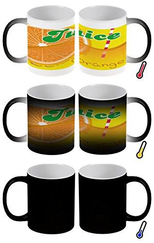 LEotiE SINCE 2004 Zaubertasse Farbwechseltasse Kaffeebecher Tasse Becher Latte Cappuccino Espresso Nostalgie Orangen Saft - Orangen-espresso-tasse