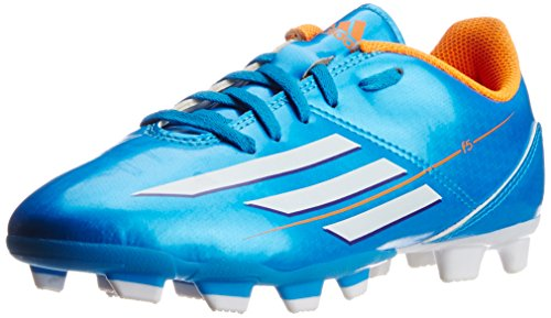 adidas Boy's F5 Trx Fg J Solar Blue, White and Zest Sports Shoes - 3 UK/India (35.5 EU)