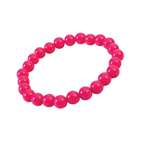 Forum Novelties X76704 Pop Art Pearl - Pulsera para mujer, color rosa, talla única