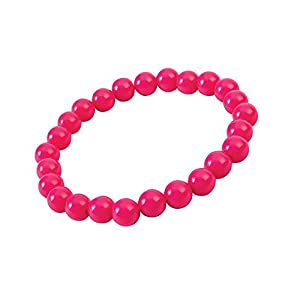 Forum Novelties X76704 Pop Art Pearl - Pulsera para mujer, color rosa, talla única