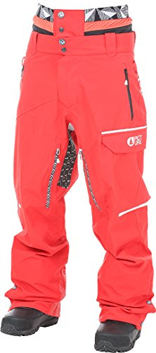 Picture Organic Track Pantalones snowboard red/white