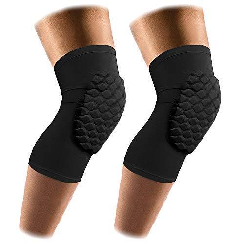 AceList 2 Packungen (1 Paar) Kompressionsschutz - Herren & Frauen Basketball-Bandage - Gurt & Wrap Knie für Volleyball, Fußball, Kontaktsport, Größe M/L/XL, Jungen, Black-Short, Medium -