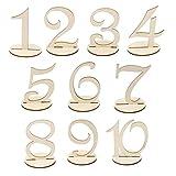 MDF-Holz 10cm Tischnummern 1-10 Basis-Set Hochzeit Geburtstagsparty Französisch
